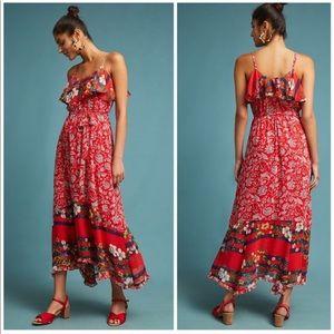 Anthropologie One September Zuri Floral Maxi Dress